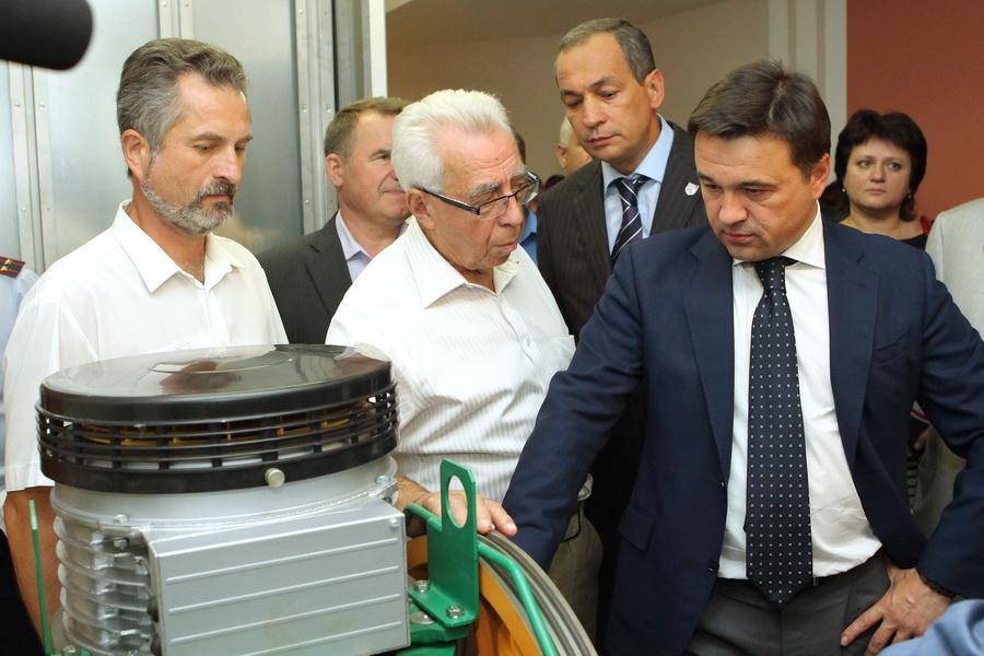Врио губернатора Московской области Андрей Воробьёв принял участие в церемонии открытия Серпуховского лифтостроительного завода