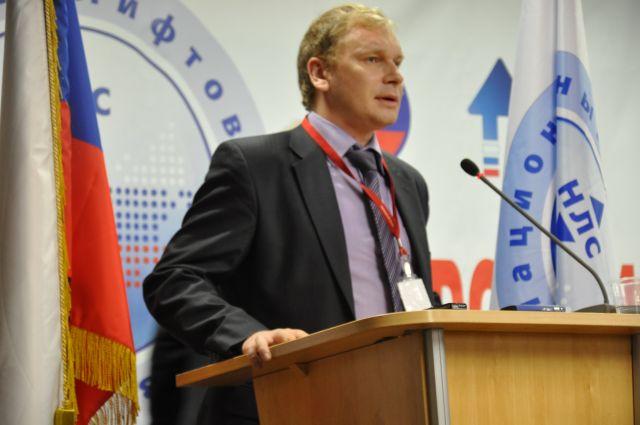 Представитель Минтруда России Кирилл Минеев на конференции лифтовиков