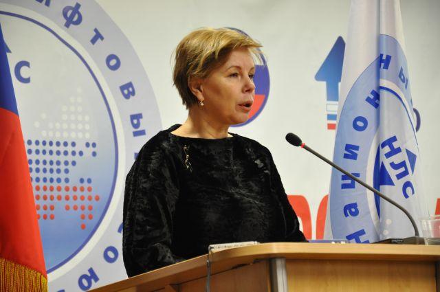 Выступление заместитель руководителя Госстроя России Людмилы Соловьевой