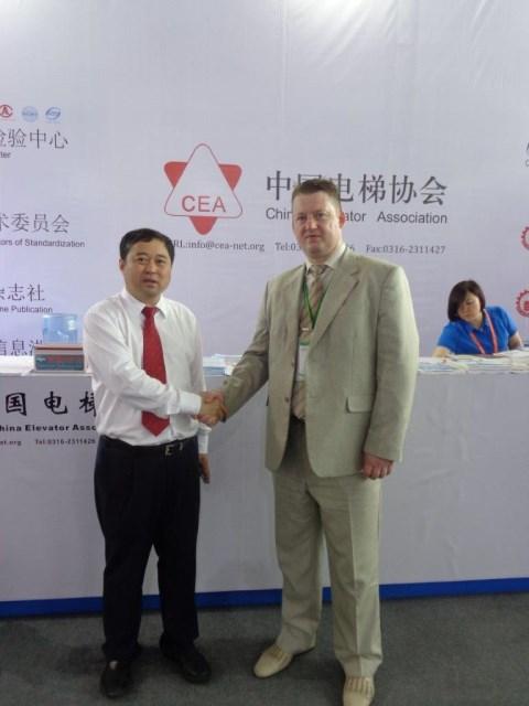 Делегация НЛС на Международной выставке лифтов и эскалаторов в Китае
