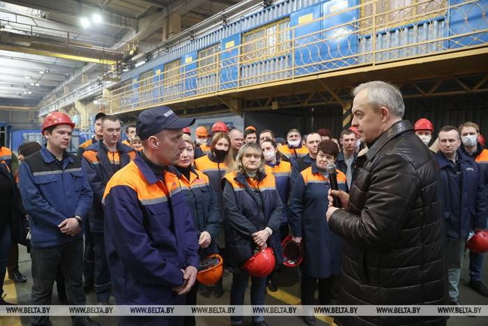 Глава Администрации Президента Беларуси Игорь Сергеенко посетил ОАО «Могилевлифтмаш»